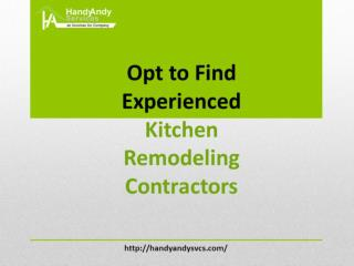 Opt to Find Experienced Kitchen Remodeling Contractors