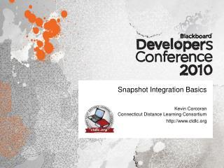 Snapshot Integration Basics