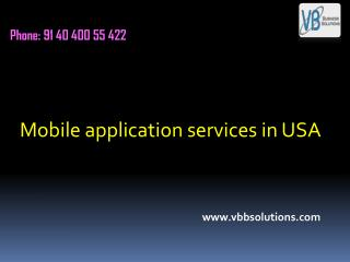 Mobile application services in USA