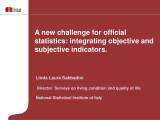 A new challenge for official statistics: integrating objective and subjective indicators.