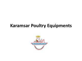 Poultry Equipments Manufacturers