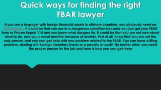 Gordon Law Group | FBAR Lawyer Provides The IRS Protection