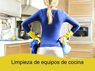 Limpieza de equipos de cocina