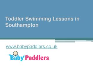 Toddler Swimming Lessons Southampton - www.babypaddlers.co.uk