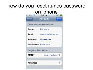 how do you reset itunes password on iphone
