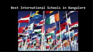 Best international school in Bangalore