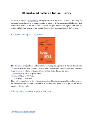 Indian History Books