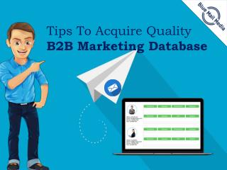 Tips To Acquire Quality B2B Marketing Database