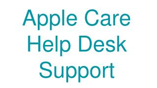 Apple Care Help Desk Support