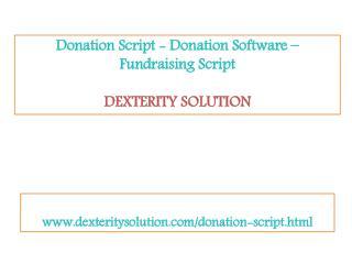 Donation script - fundraising script - Donation software