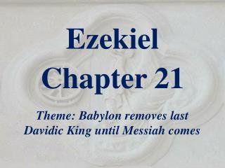 Ezekiel  Chapter 21