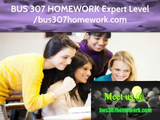 BUS 307 HOMEWORK Expert Level – bus307homework.com