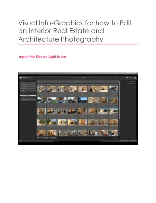 Visual Info-Graphics for how to Edit an Interior Real Estate and Architecture Photography