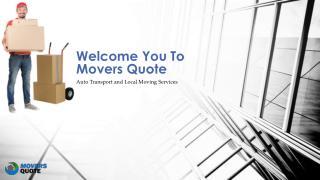 Local Mover service Provider Companies | Movers Quote