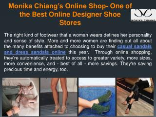 Monika Chiang's Online Shop- One of the Best Online Designer Shoe Stores