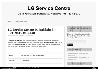 Lg refrigerator repair  service - 9811052330