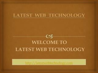 Latest Web Technology News