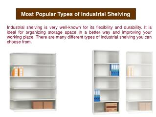 Most Popular Types of Industrial Shelving