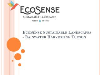 EcoSense Sustainable Landscapes - Rainwater Harvesting Tucson