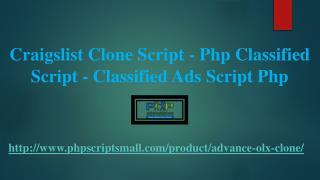 Classified Ads Script Php - Php Classified Script - Craigslist Clone Script