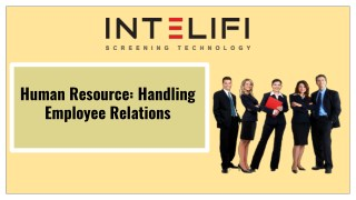 Human Resource: Handling Employee Relations