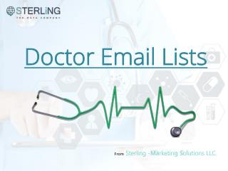 Doctors Email List, Doctors Email Database, Doctors mailing List