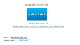 Siebel CRM users list