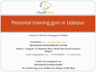 Personal training gym in Udaipur