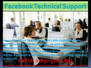 Surprising facts about Facebook Technical Support 1-850-316-4893 team
