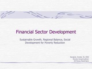 Financial Sector Development