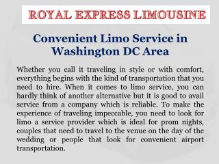 Convenient Limo Service in Washington DC Area