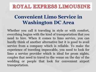 Convenient Limo Service in Washington DC Area