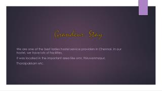 Paying Guest Accommodation in Chennai | Grandeur Stay