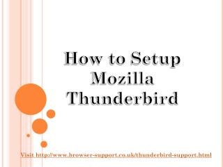 How to configure Thunderbird mail 18003580071 step by step