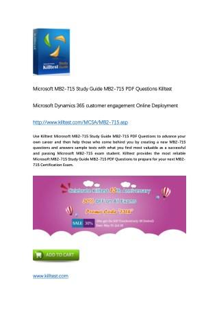 Killtest MB2-715 Microsoft Dynamics 365 customer engagement Online Deployment Practice Test