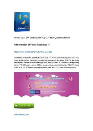 Killtest VCS-274 Administration of Veritas NetBackup 7.7 Practice Test