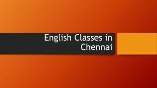 Best English Classes in Chennai