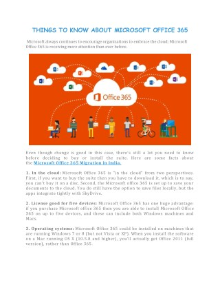 Things To Know About Microsoft Office 365