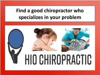Search the best family chiropractic clinic