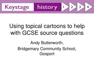 Using topical cartoons to help with GCSE source questions