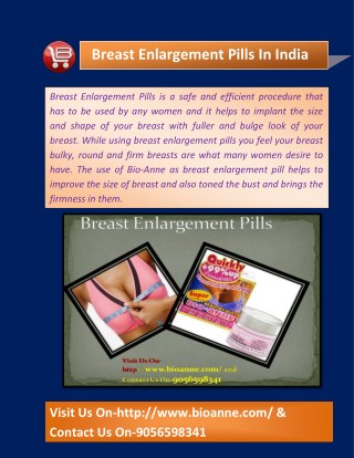 Breast Enlargement Pills In India