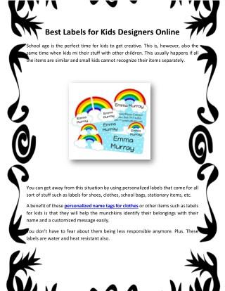 Best Labels for Kids Designers Online