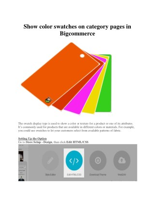 Show color swatches on category pages in Bigcommerce