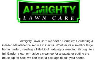 Lawn mowing services Cairns