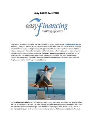 Easy Financing AU