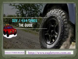 4x4 Tyres & SUV Tyres - The Presentational Overview