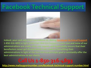 How do I get connected with the Facebook Technical Support 1-850-316-4893 team?