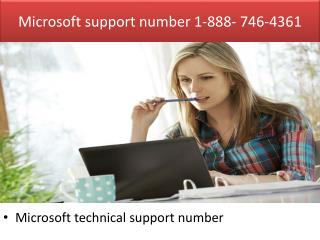 Microsoft support phone number | 1-888- 746-4361