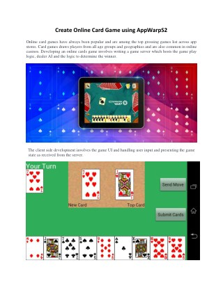 A Comprehensive Tutorial to Create Online Card Game using AppwarpS2