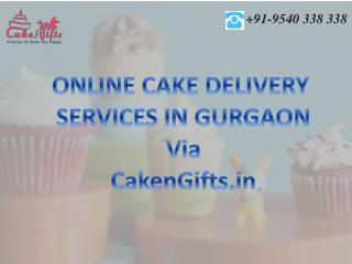 Online cake delivery services in Gurgaon by CakenGifts.in